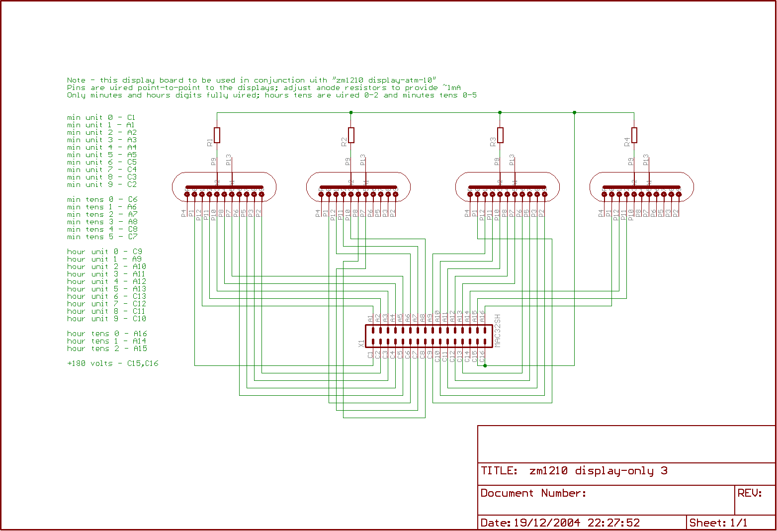 Barnacles Nixie Clock 2 Picture Of Eagle Layout Circuit Board Display Diagram Cad Controller Schematic